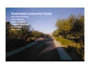 Lecture Sustainable Community Design for Landscapes and Sustainability