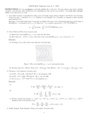 Takehome Test 2 Solution on Vector Calculus