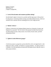 Marketing Chapter 6 Assignment