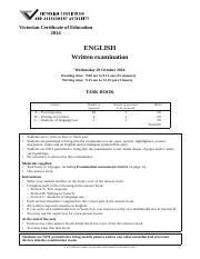 the victorian certificate of education english The report of the committee of review of the vce, enhancing their  paper on  non-english-speaking background students with impairments,.