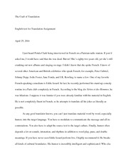 English text for Translation Assignment