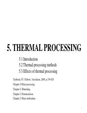 5 Thermal processing