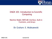 Lec02 - Machine model, Matlab introduction, and arrays.1
