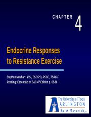 Ch. 4 Endocrine Responses to Resistance Exercise