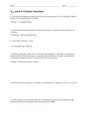 AP Chemistry - Keq problems (ICE tables using x) - AP CHEMISTRY ...