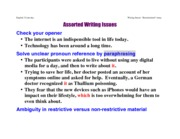 WritingIssues