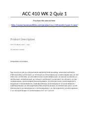 ACC 410 Week 2 Quiz 1 Ch. 1 - Strayer University NEW.docx