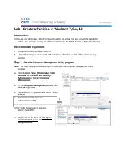 5.2.4.7 Lab - Create a Partition in Windows 8.docx