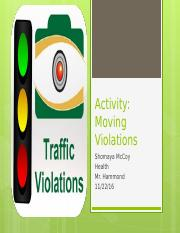 Activity- Moving Violations