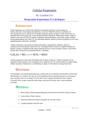 Respiration 01 Lab report