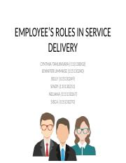 EMPLOYEE'S ROLES IN SERVICE DELIVERY.pptx