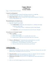 Ch 13 outline