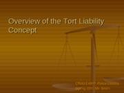 Overview of the Tort Liability Concept