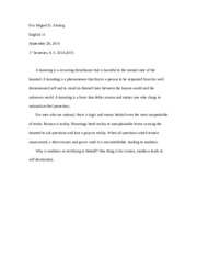 Eng 11 Paper Descent to Madness