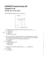 Answer key-ECON252 Practice Exam _2 - Chapters 9-14