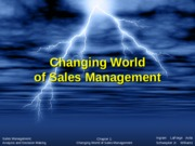 Chapter 1. Changing World of Sales Management