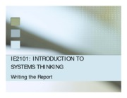 IE2101 Writing the Report