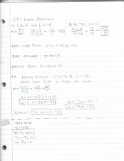 2.3 Linear Functions