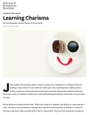 Learning Charisma-2