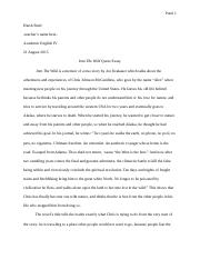 Into The Wild Quote Essay