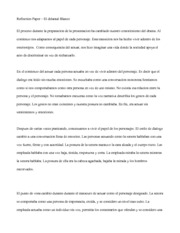 Reflection Paper - El Delantal Blanco