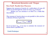 Lecture 16 on Rotational dynamics and Torque