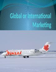 2) The Four P's of International Marketing