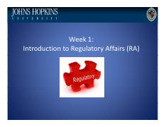 Lecture 1 History of Regulatory Affairs (Plain).pdf