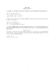 Homework 8 on Ordinary Differential Equations