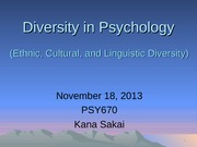 Diversity in Clinical Practice