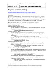 Lesson Plan for Poultry Digestive System (NEW)-1