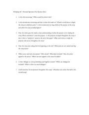peer review sheet for personal essay The criteria below grow out of the assignment and peer review sheets an excellent definition essay will handle the peer reviews also enable you.