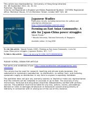 Takashi Terada - Forming an East Asian Community.pdf