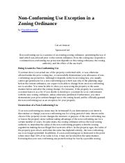 non-conforming use zoning ordinance