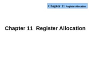 Chapter-11(register allocation )