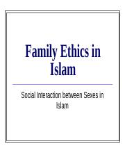 Family Ethics in Islam.ppt