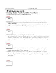 Completed Reading Guide- Freedom and the Free Market Graded Assignment.docx