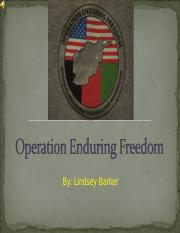 Operation Enduring Freedom.ppt