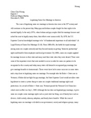 research paper gay marriage - Hsiung Chien Chiu Hsiung English 2 ...