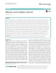 Albumin and multiple sclerosis..pdf