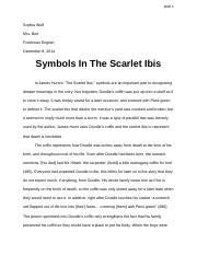 The Scarlet Ibis Analytical Essay.docx