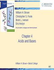 Ch 4 Acids and Bases