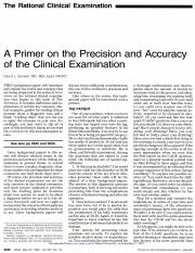 A primer on the rational clinical examination
