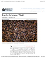 Kwame Anthony Appiah | A Postracial World? Don't Hold Your Breath | Foreign Affairs.pdf