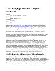 The Changing Landscape of Higher Education.docx