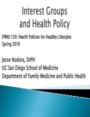Lecture 4 - Interest Groups and Health Policy.pdf