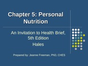 concepts of wellness ch5 personal nutrition