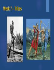 Week 7 – Tribes 2016.ppt