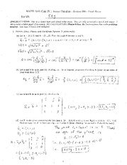 Final Exam Solution on Vector Calculus