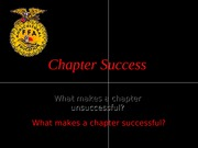The FFA - Chapter Success